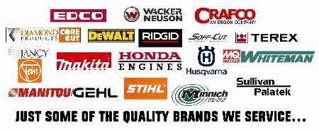 We have parts for your construction equip including EDCO, Crafco, Husqvarna, Sullivan Palatek, STIHL, GEHL, DeWalt, Terex & much